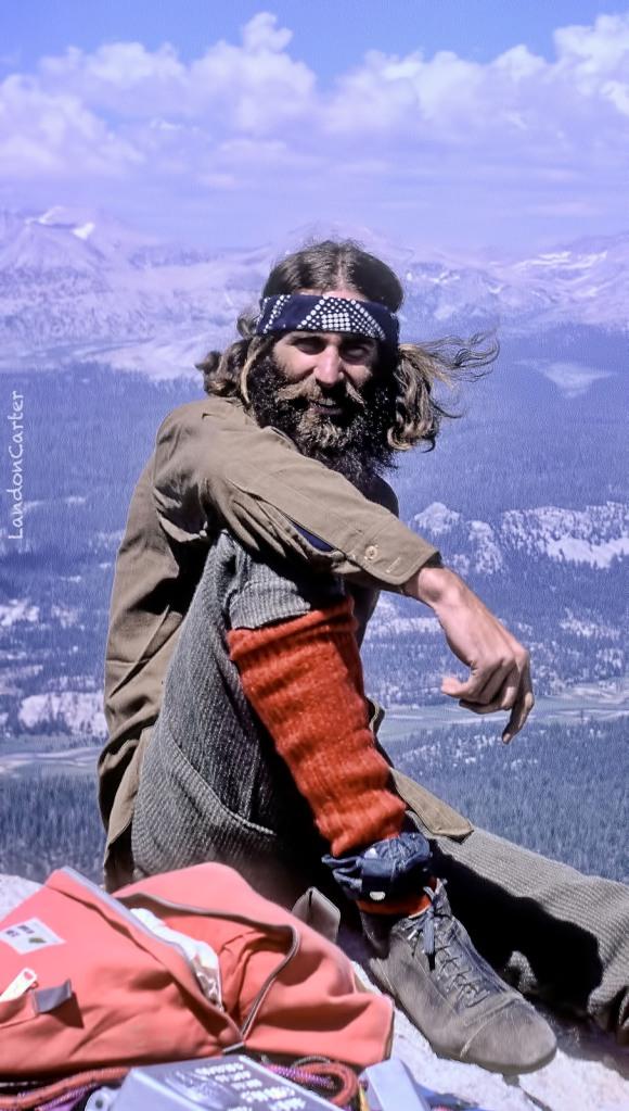 Steve Miller, Cathedral Pk, Yosemite, 1973