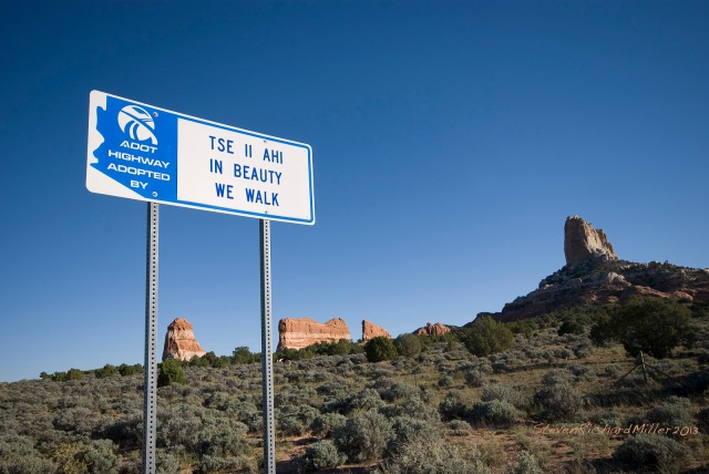 Sign west of Kaibeto, on the Navajo Reservation