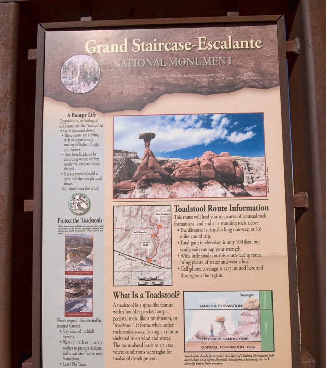 Grand Staircase/Escalante roadside scenic area sign
