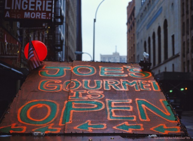 """Joe's Gourmet is Open"", near Ground Zero"