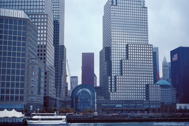 View towards Ground Zero from the Hudson River