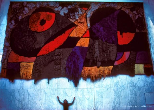 Joan Miro wall hanging