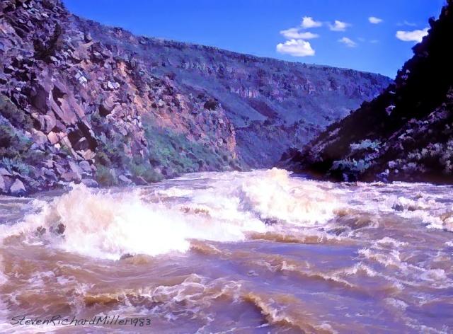Dead Texan Rapid, Taos Box run, Rio Grande river, NM