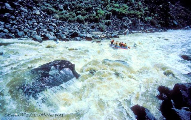 Powerline Falls, in the Taos Box, Rio Grande river, 1983