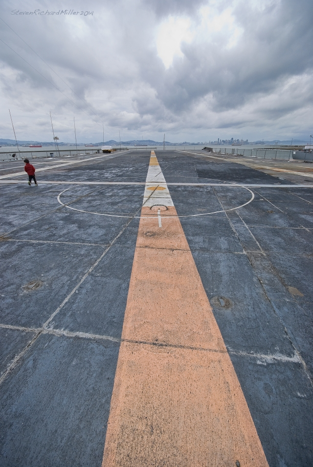 The flight deck, view to San Francisco