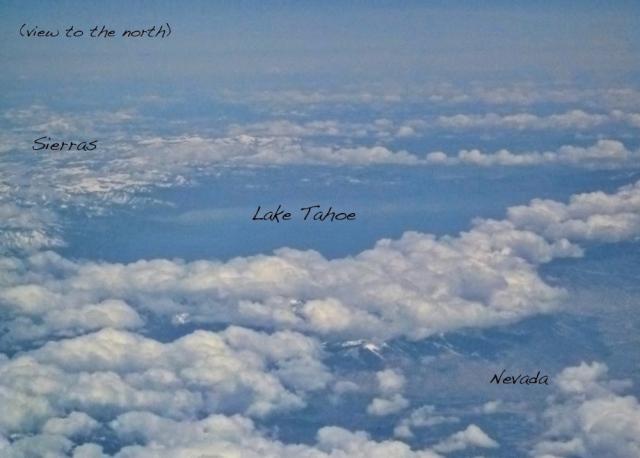 Lake Tahoe is seen, free of clouds