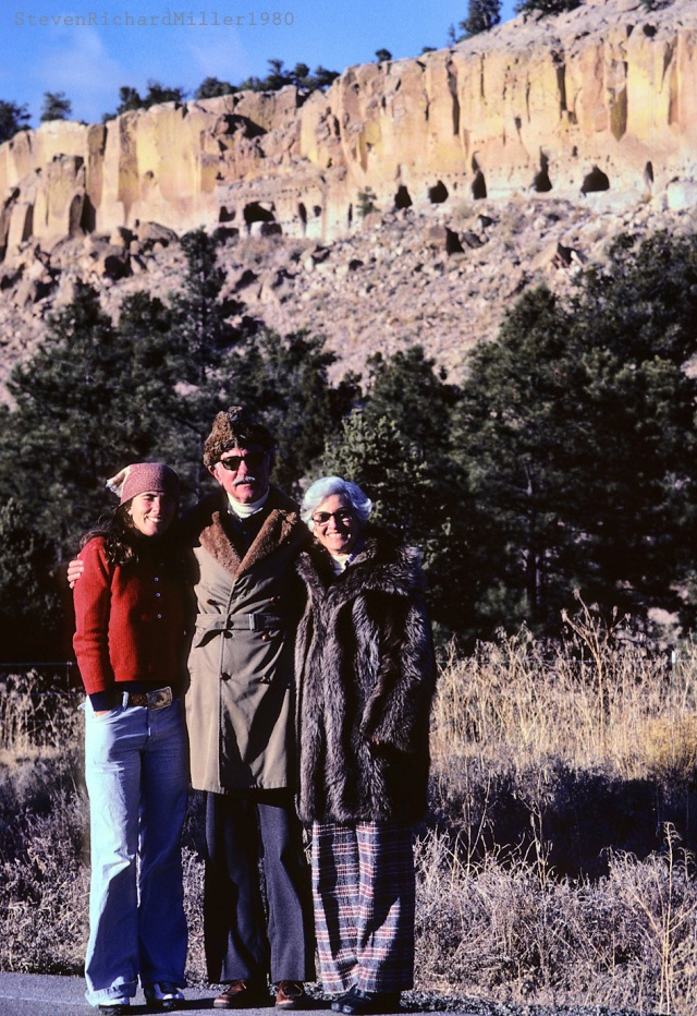 Kathy and the folks, Puye Cliff Dwellings