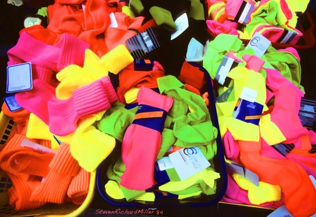 Day-glo socks
