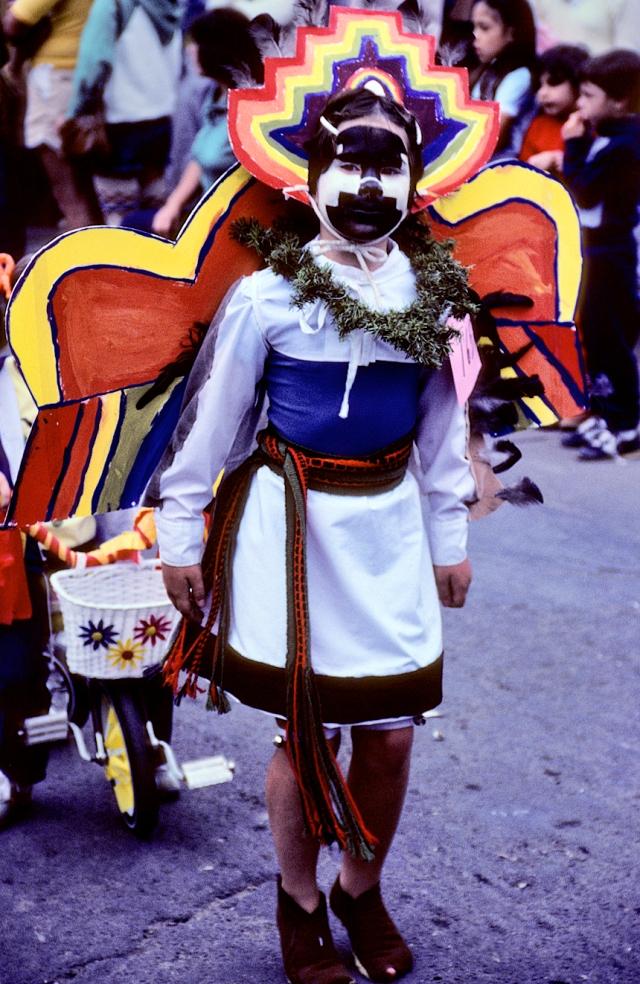 Laina, in the Santa Fe Fiesta parade, 1982