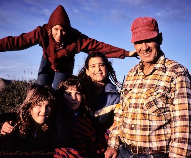 Raymond, Deb, and grandkids, 1982