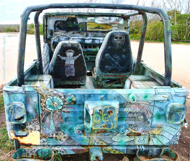 Jeep art at the marina, Sept. 2009