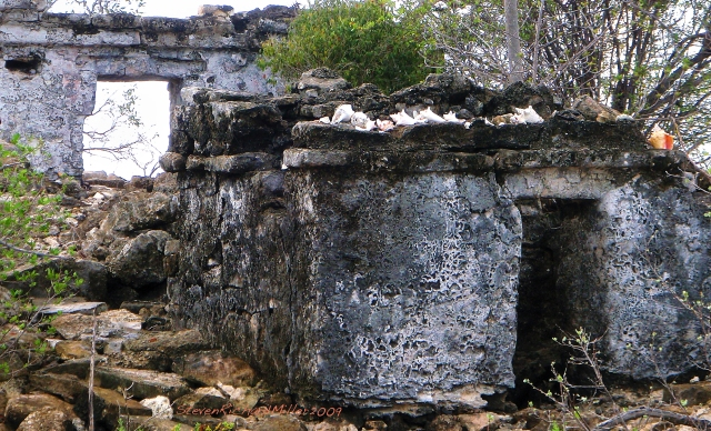 The Mayan ruin, on a small island at the top end of the lagoon system