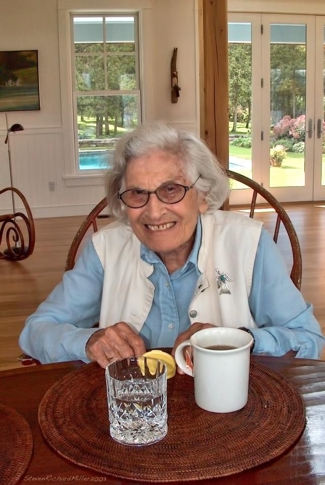 Mom, at Joel and Carol's house