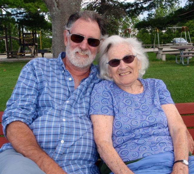 Mom and Steve, at the lake