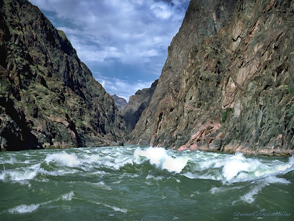 The Colorado River In The Grand Canyon Sockdolager Rapid