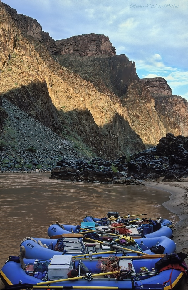Clear Creek camp, downstream view