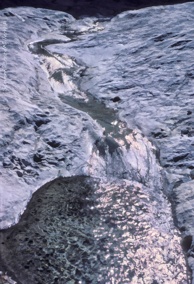 Stream on limestone bedrock
