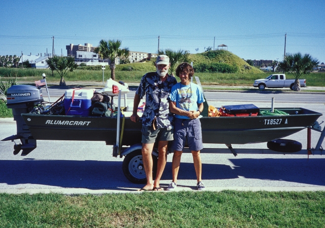 Kathy and I, with our boat,S. Padre Island, 2002