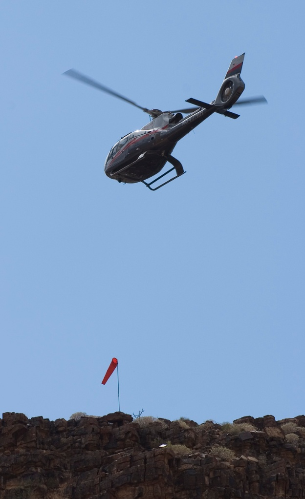 The first helicopters showed up at Mile 259. This was one of a group of 5. Fall 2012