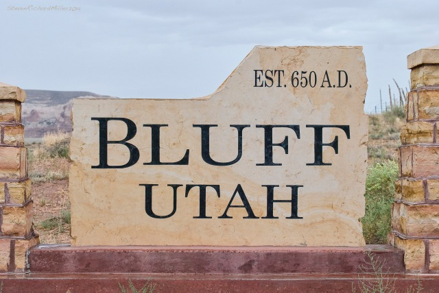 Sign at Bluff, UT
