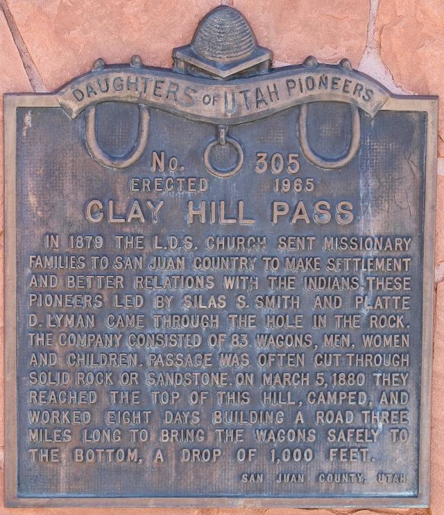 Memorial at Clay Hills Pass