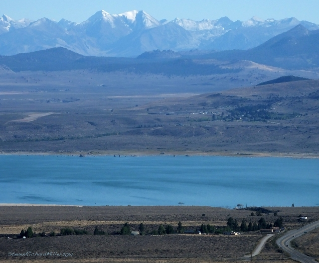 View to the south, of Mono Lake and the Sierras
