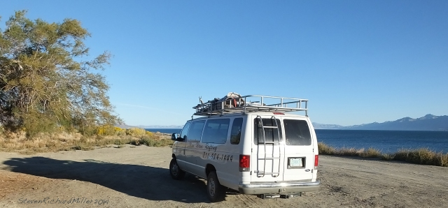 The van, at Tamarack Beach