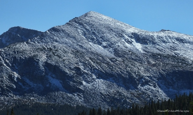 Mammoth Pk, at the western end of the Kuna Crest, from the Tioga Rd.