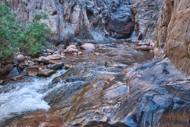 Shinumo Creek, below the waterfall