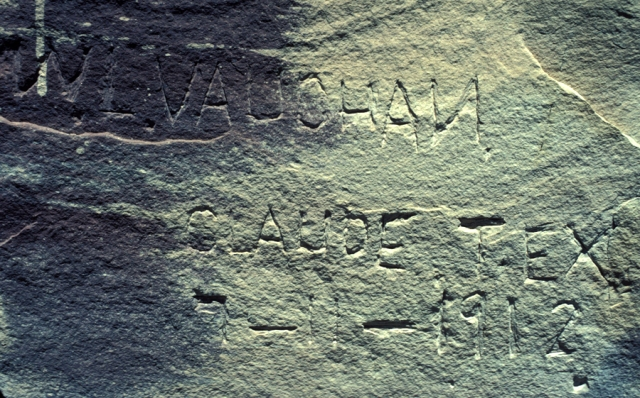 Inscription, at the Bass tourist accommodation on Shinumo Creek