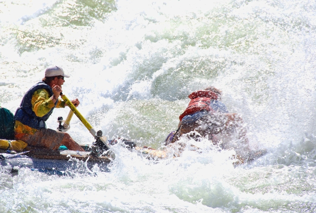 Neil, going down the right side of Waltenberg Rapid, Mile 112.1