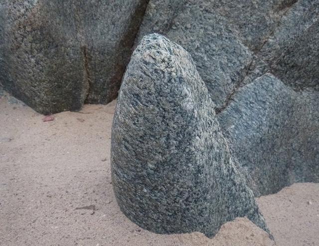 Sculpted schist at Upper Garnet
