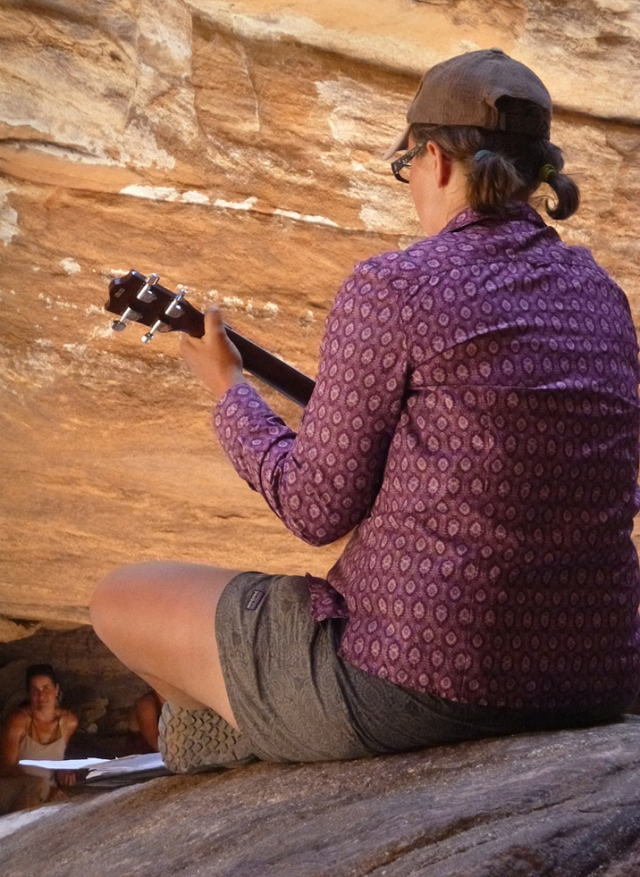 A CRATE guide performs in Blacktail Canyon