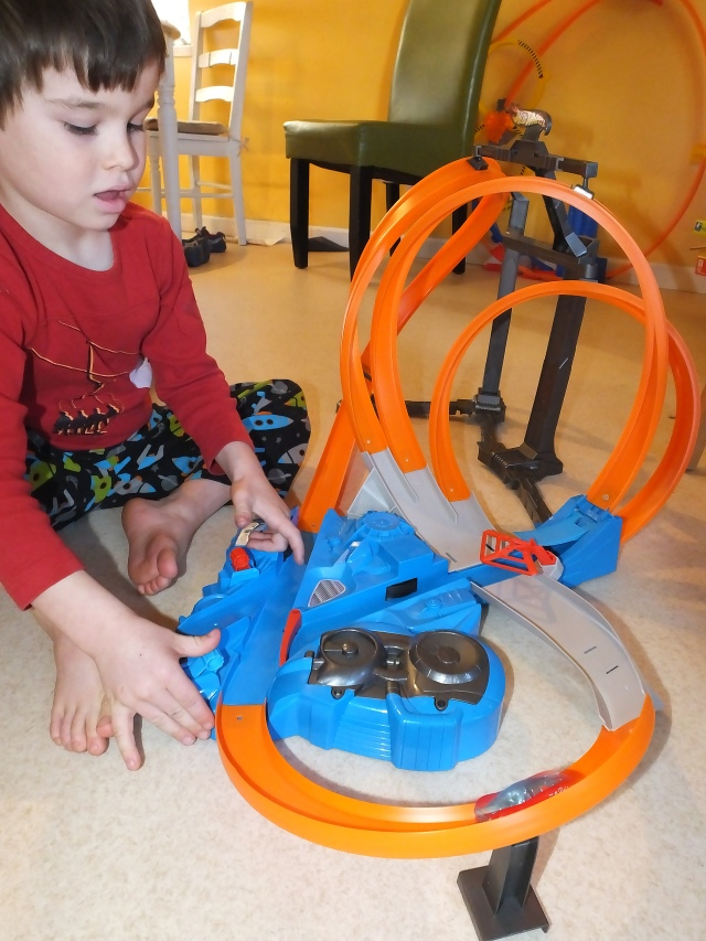 Benet and his new Hot Wheels set-up