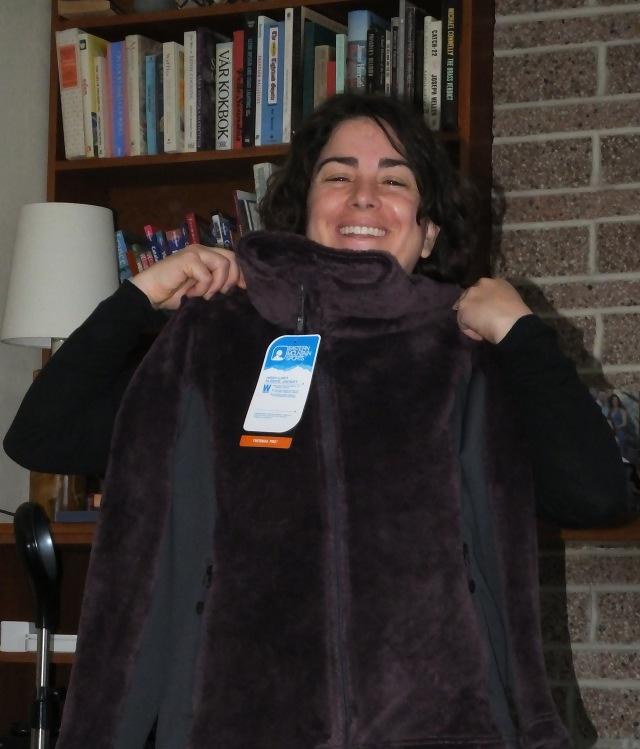 Laina has got a new jacket