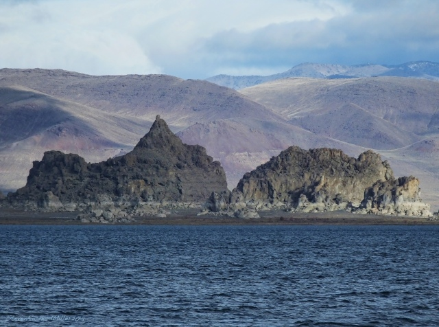 Tufa formations, to the north
