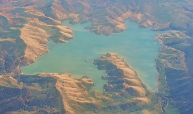 Los Vaqueros reservoir, west of the Central Valley