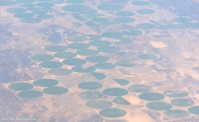 Center-pivot irrigation, Beryl Junction, UT