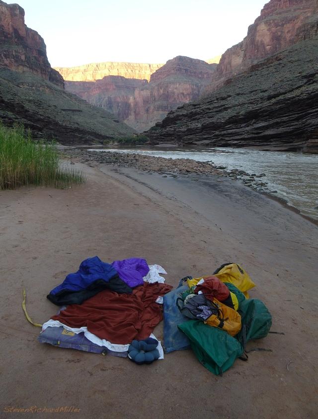 Morning upstream view, at Randy's Rock Camp, Mile 126.4, river riight
