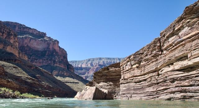 Randys Rock, view upstream
