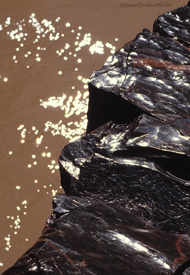 Fluted schist rocks