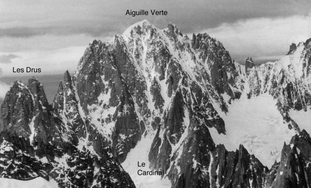 The Drus, the Aiguille Verte and the Cardinal