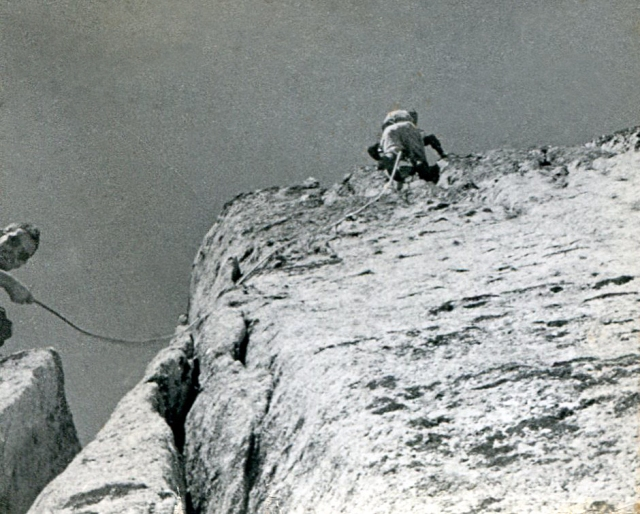 At the corner, where the South Face route meets the West Face