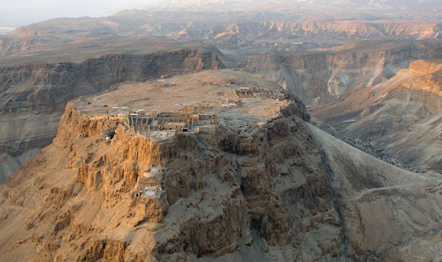 Masada, by the Dead Sea (Wikipedia)