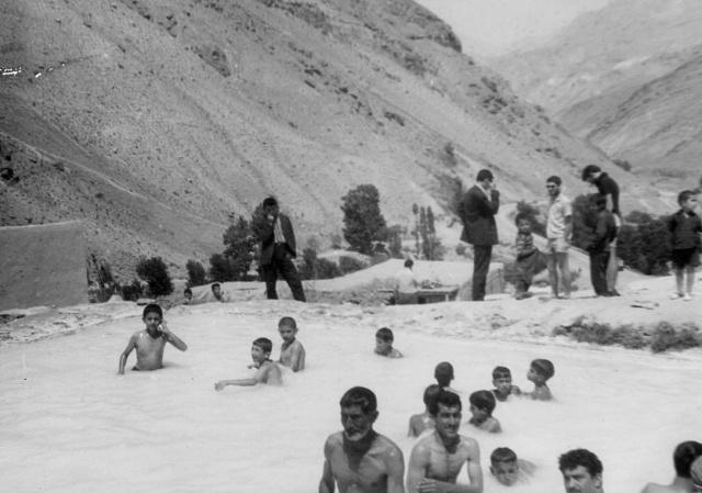Ab garm Damavand (Damavand hot spring) Amol Road, Iran, summer '63