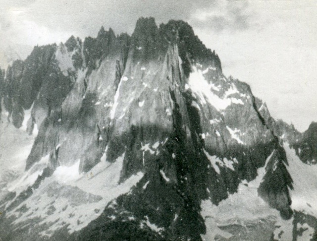 Aiguilles Charmoz-Grepon, July 28, 1962, from the Charpoua hut