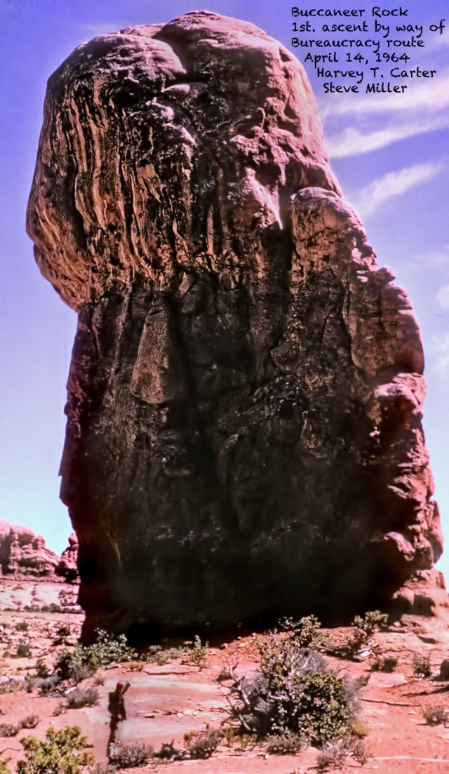 Buccaneer Rock, Arches NP, April 1964