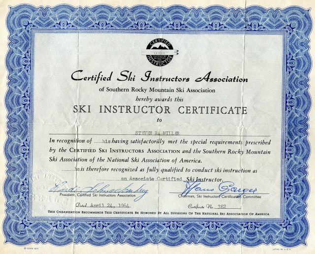 Associate Certification,