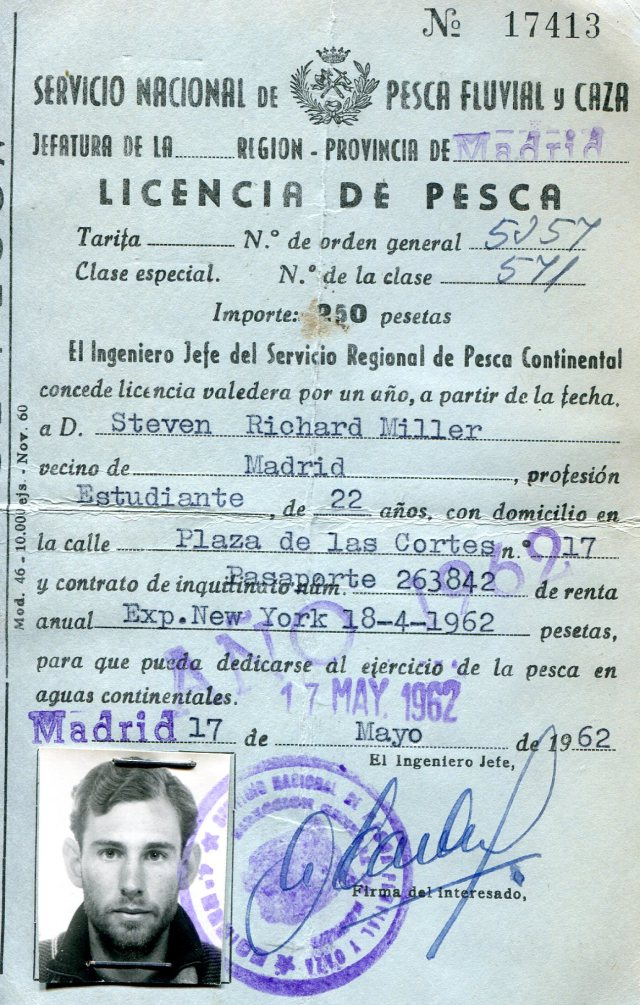 My Spanish fishing license