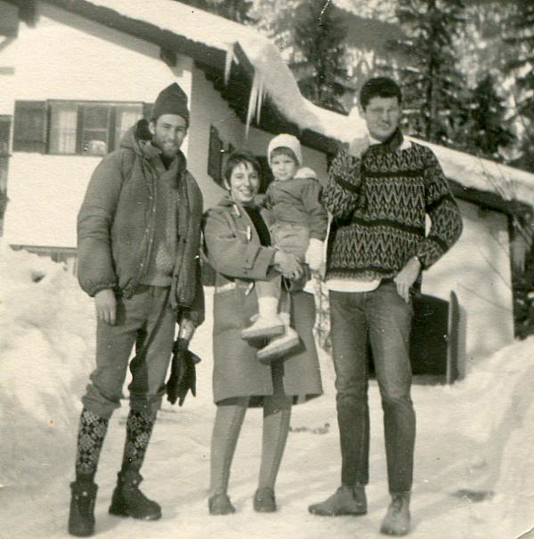 Garmisch Germany. Me, Sara Jean and David, Jan.63